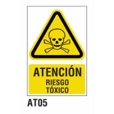 Cartel riesgo tóxico