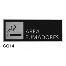 Cartel área fumadores