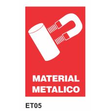 Cartel material metálico