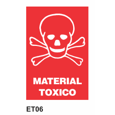 Cartel material tóxico
