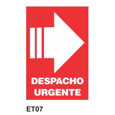 Cartel despacho urgente