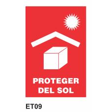 Cartel proteger del sol