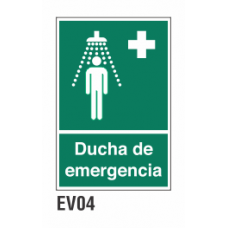 Cartel ducha de emergencia