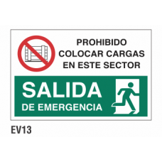 Cartel prohibido colocar cargas