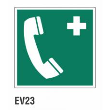 Cartel teléfono de emergencias