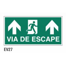 Cartel vía de escape