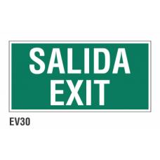 Cartel salida exit