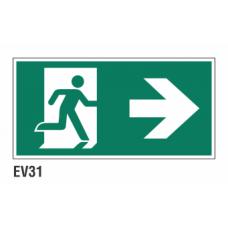 Cartel salida a la derecha