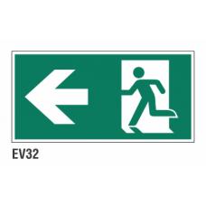 Cartel salida a la izquierda
