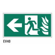 Cartel salida evacuación