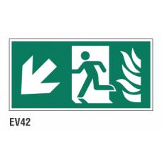 Cartel salida evacuación y emergencia