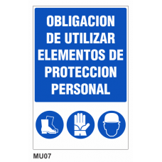 Cartel uso obligatorio en este sector
