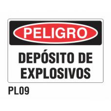 Cartel depósito de explosivos