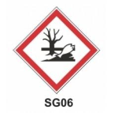 Etiqueta contaminante para el medio ambiente SAG
