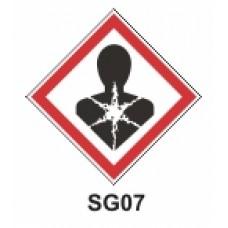 Etiqueta sensibilizantes cutáneos SAG