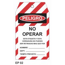 Cartel no operar